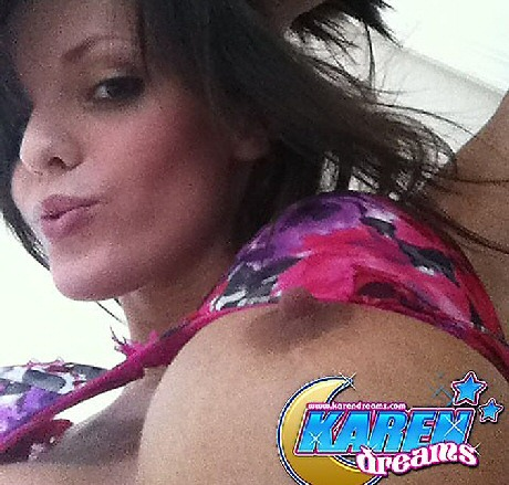 karen dreams flashing her tits self pic