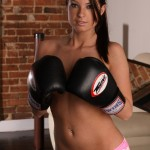 linds roxx topless with boxing gloves
