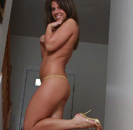 blueyed cass topless in her gold thong