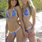private school jewel with friend michelle in bikinis