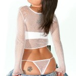 nikki sims sheer white thong and top