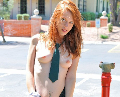 ftv girl lacie hot red head topless perky tits and nipples