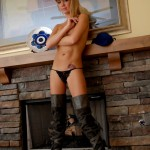 diddylicious tiny teen topless in her thong and thigh high boots