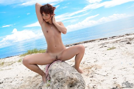 ariel rebel nude legs spread showing her tiny tits and pussy