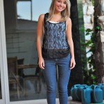ftv girl amie aind her tank top and jeans outside