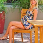 blonde ftv girl casy sexy legs in her short dress