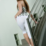 private school jewel hot booty in her tight white pants