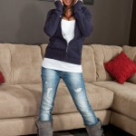 nikki sims in her boots and jeans