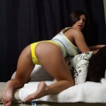 briana lee hot booty in her yellow boy short panties