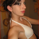 sweet apples ann tiny amateur teen self pics in her white bikini