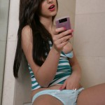 Autumn riley with her hand down her panties texting dirty