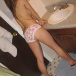 blueyed cass topless in her boy short panties
