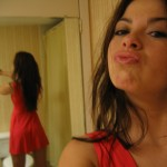 kari sweets sexy self pic in her red dress