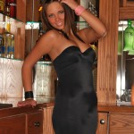 bailey knox sexy pics in her black club dress