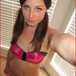 brenda sweet apples self pics in her pink bra with pigtails