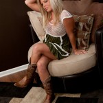 meet madden in her mesh sheer top dress and cowboy boots