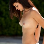 natasha belle topless in her tiny white shorts and hot perky tits